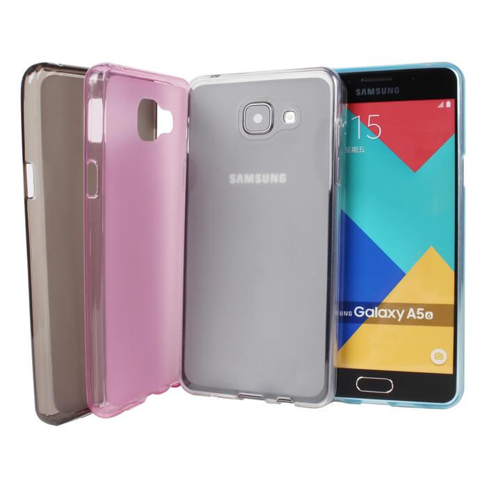 【Myshell】Samsung A5 (2016版) 輕量氣質軟質保護殼霧粉紅