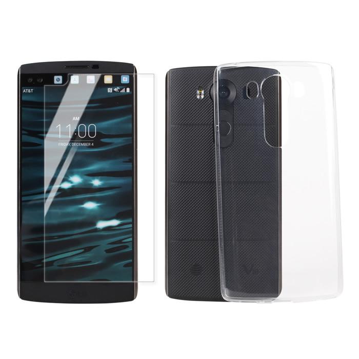 【Myshell】LG V10 極致超薄保護殼+鋼化玻璃保護貼-2合1組