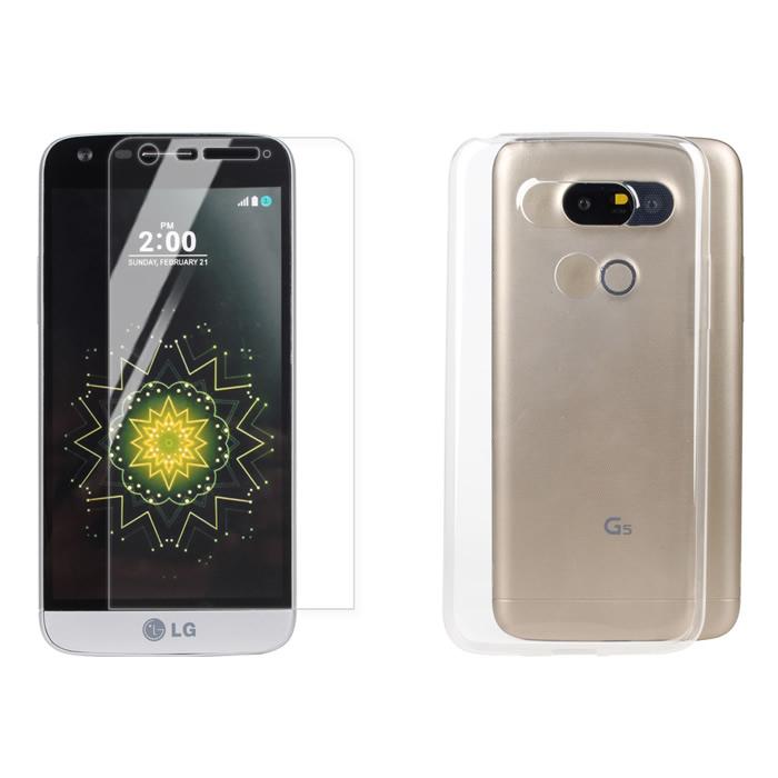 【Myshell】LG G5 極致超薄保護殼+鋼化玻璃保護貼-2合1組