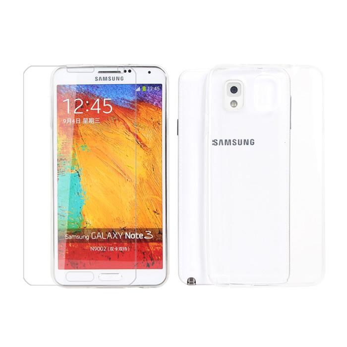 【Myshell】Samsung Note 3 極致超薄保護殼+鋼化玻璃保護貼-2合1組
