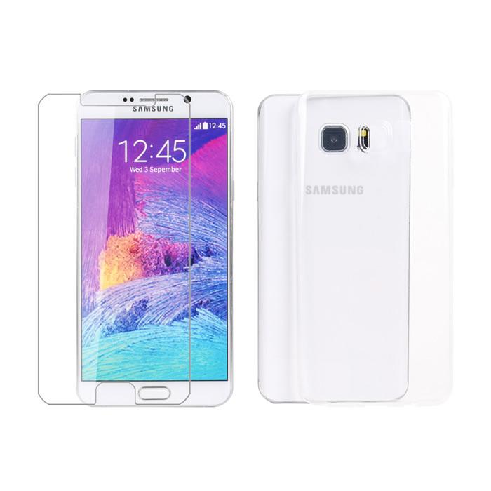 【Myshell】Samsung Note5 極致超薄保護殼+鋼化玻璃保護貼-2合1組