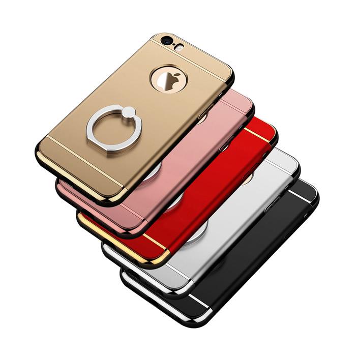 【Myshell】Apple iPhone 6/6S // iPhone 6/6S Plus 三件式指環硬質保護殼iPhone6/6S Plus-金