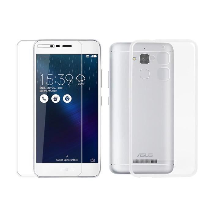 【Myshell】ASUS Zenfone3 MAX 5.2吋極致超薄保護殼+鋼化玻璃保護貼-經典防護2合1組