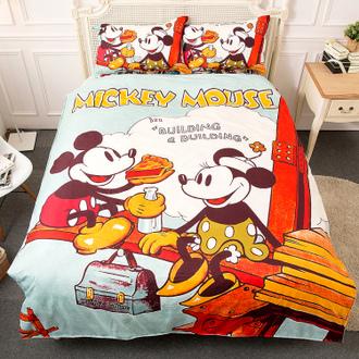 【Jenny Silk】迪士尼米奇米妮.甜蜜野餐標準雙人.枕套床包組-特價-居家日用.傢俱寢具-myfone購物
