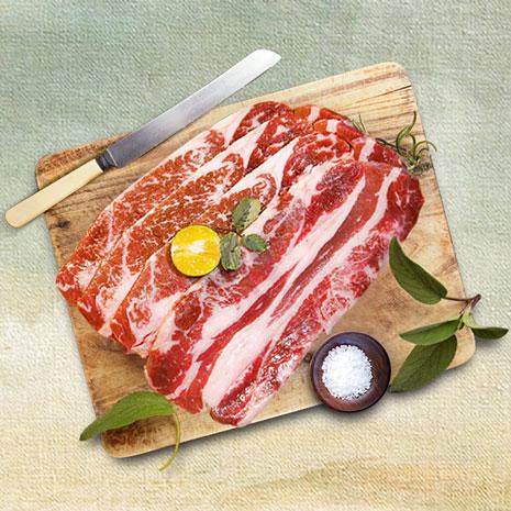 (加價購)[張姥姥食膳館]美國頂級牛雪花燒烤肉片