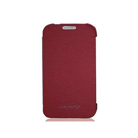 Amigo SAMSUNG S4 簡單側掀 開蓋式皮套 紅色-手機平板配件-myfone購物
