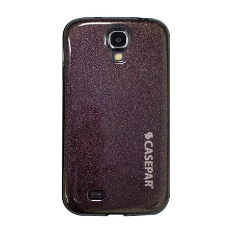 CASEPAR SAMSUNG S4 超高光超亮粉矽膠套 黑色
