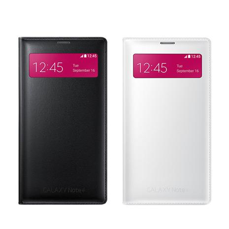 吊卡裝【三星原廠】Samsung Galaxy NOTE4 S-View 原廠 插卡式透視感應皮套 (贈保護貼)
