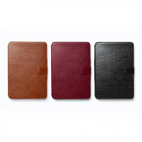 【拆封新品】ZENUS Apple iPad Mini2&3 復古刻紋 書本式皮套(黑色)