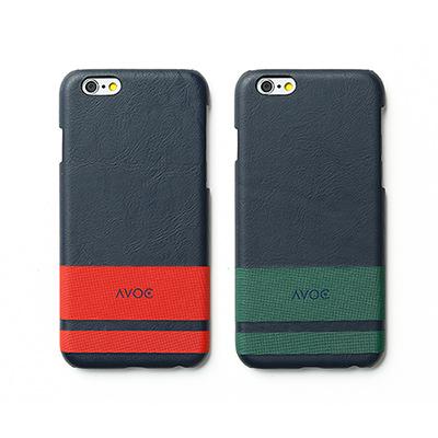 ZENUS AVOC Apple iPhone6 經典條紋皮革保護殼