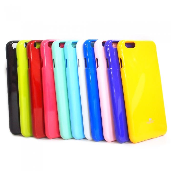 MERCURY Apple iPhone6 plus 亮面珠光矽膠套紫色