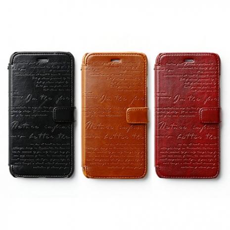 ZENUS Apple iPhone6 plus 復古刻紋 書本式皮套
