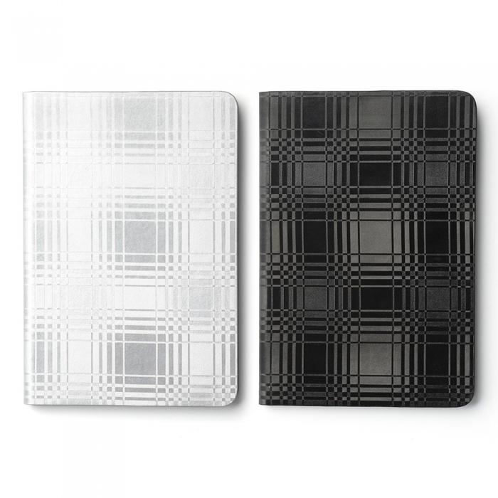 ZENUS Apple iPad Mini2&3 金屬格紋 書本式皮套黑色