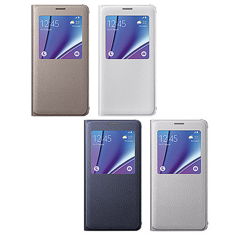 SAMSUNG GALAXY Note5 S View 原廠透視感應皮套 (盒裝)白色