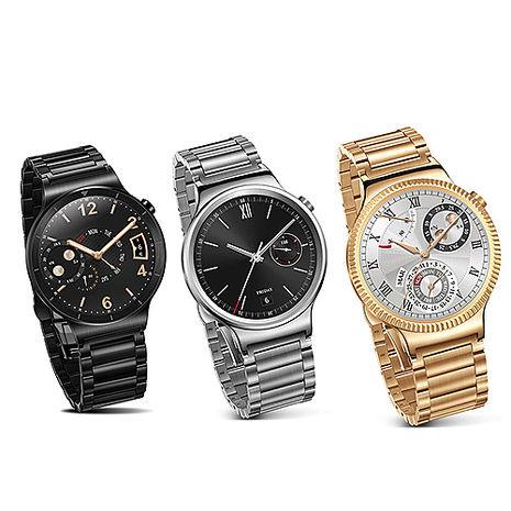HUAWEI 華為 Watch W1智慧手錶(不鏽鋼錶帶) 贈9H鋼化保貼黑色