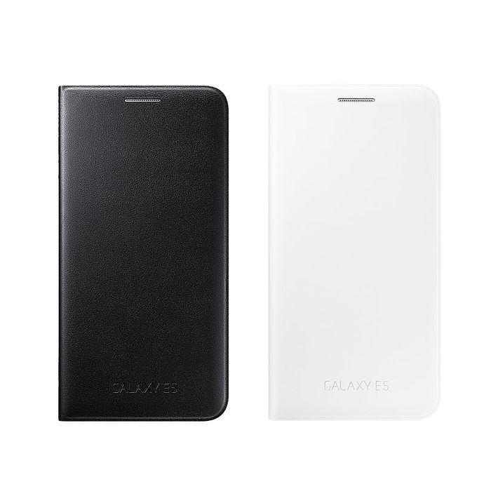 SAMSUNG GALAXY E5 原廠 皮革翻頁式皮套 (盒裝-台灣代理商)白色