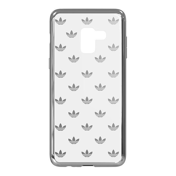 SAMSUNG GALAXY A8+ adidas logo 原廠透明背蓋(台灣公司貨)