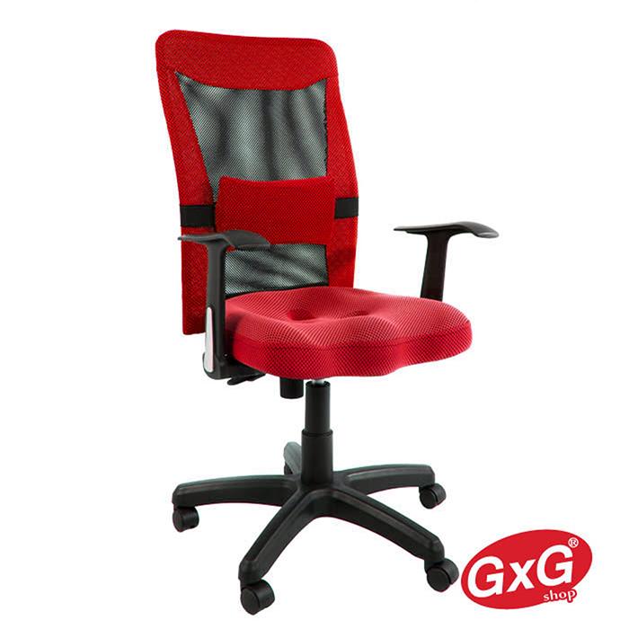 吉加吉 短背美姿 電腦椅 TW-041 (三色)黑色皮面椅背+皮座墊
