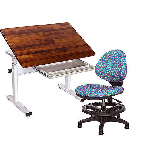 GXG 兒童成長 原木書桌椅組 TW-3686KD 搭配數字椅04組合