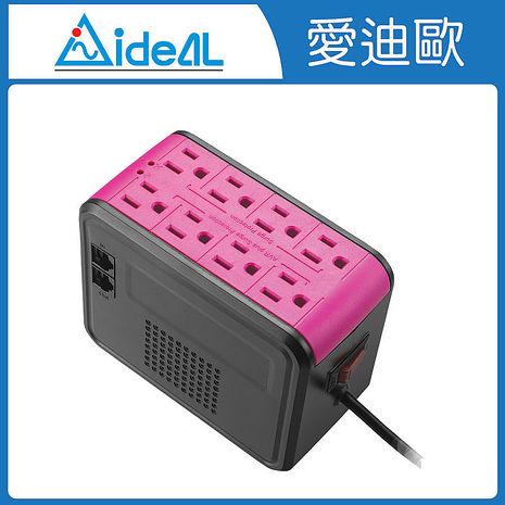 愛迪歐AVR 全方位電子式穩壓器 PSC-1000(1KVA) 蜜桃紅