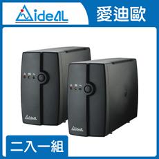 IDEAL 愛迪歐 在線互動式UPS IDEAL-5706C (600VA)-兩入組