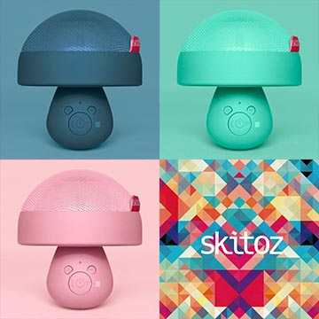 Skitoz Q1蘑菇藍牙喇叭【攜帶 藍牙 喇叭 音箱 音響 HiFi NFC 通話 電腦 手機】繽粉拉丁