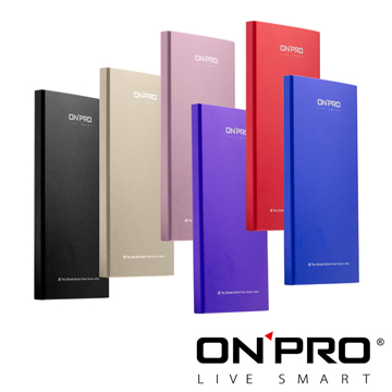 <ONPRO>【送2禮】MB-X8 8000mAh雙USB極致輕薄時尚行動電源◆內附精美收納袋太空黑