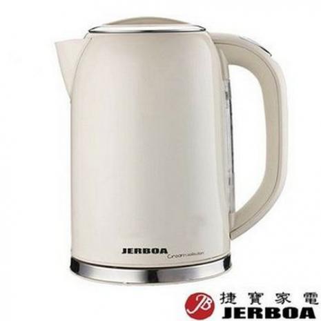 【捷寶】1.7L不鏽鋼烤漆電茶壺JEK1702ST(福利品)