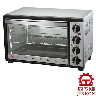 超值組★【晶工牌】30L不鏽鋼旋風烤箱(JK-630)加304不鏽鋼深烤盤(可適用於30公升烤箱)