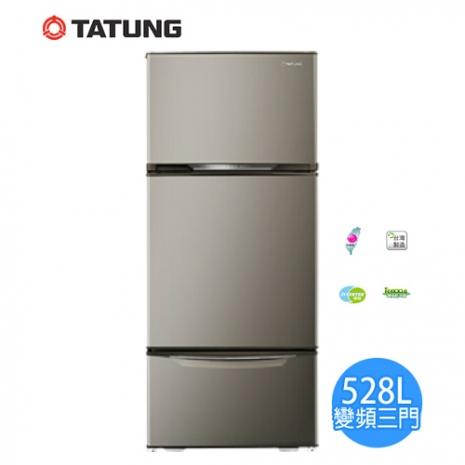 【大同TATUNG】 528公升變頻優雅三門冰箱TR-C628V(含拆箱定位+舊機回收)-家電.影音-myfone購物