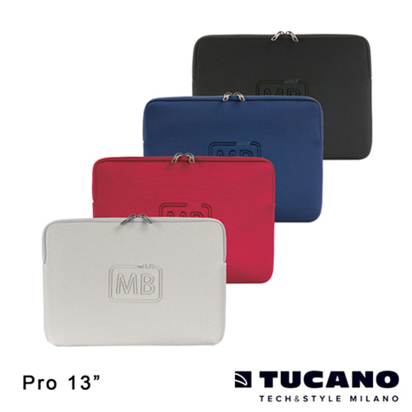 TUCANO ELEMENTS MB Pro Retina 13吋專用防震內袋銀白