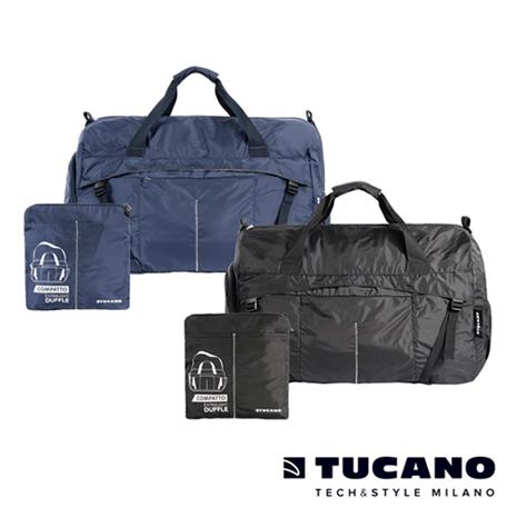 TUCANO COMPATTO 超輕量防水尼龍折疊收納旅行包黑
