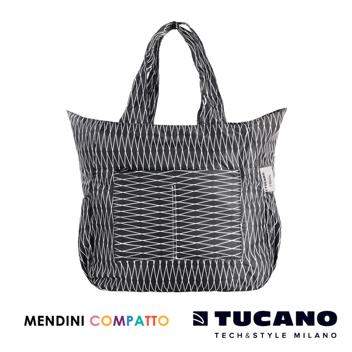 TUCANO X MENDINI 設計師系列超輕量折疊收納托特包- 黑