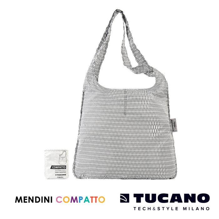 TUCANO X MENDINI 設計師系列超輕量折疊收納輕鬆購物袋- 白