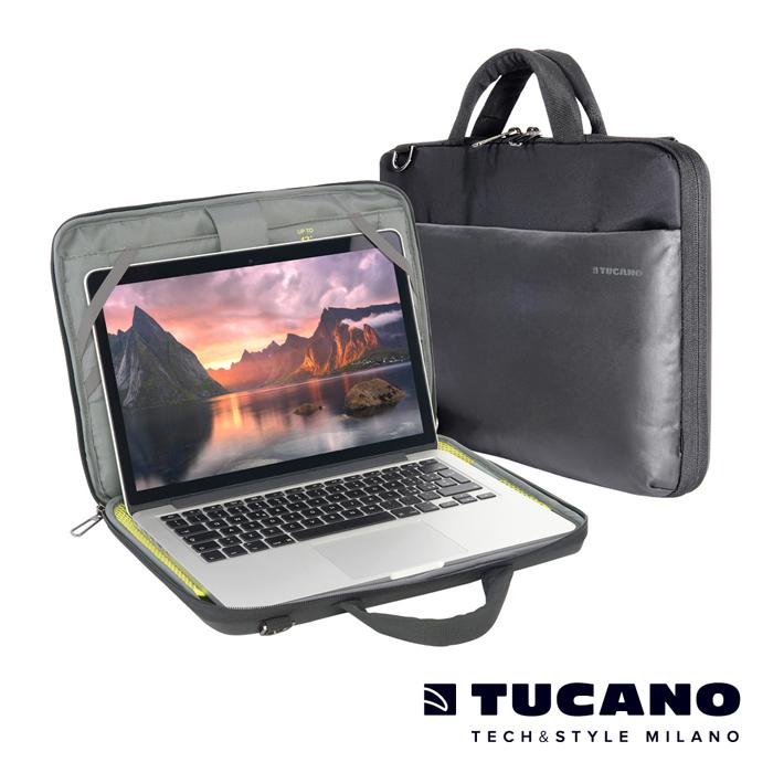 TUCANO Dark 硬殼全開式電腦包iPad Pro/MB12~13吋適用