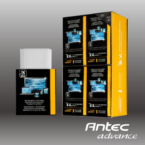 Antec 3X強效螢幕清潔濕紙巾攜帶包100入