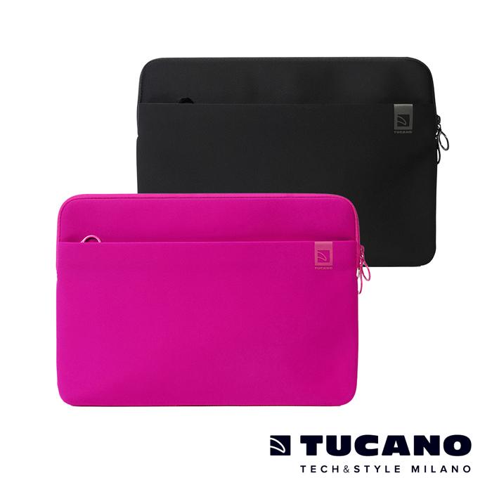 TUCANO TOP MB Pro Retina 13吋專用防震內袋(黑色/桃紅色)桃紅