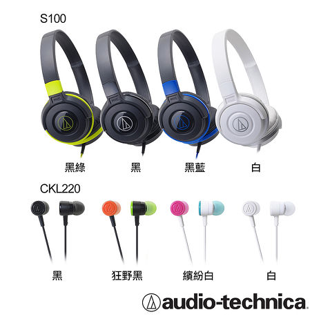 鐵三角ATH-CKL220 智慧型手機專用耳塞式耳機繽紛白