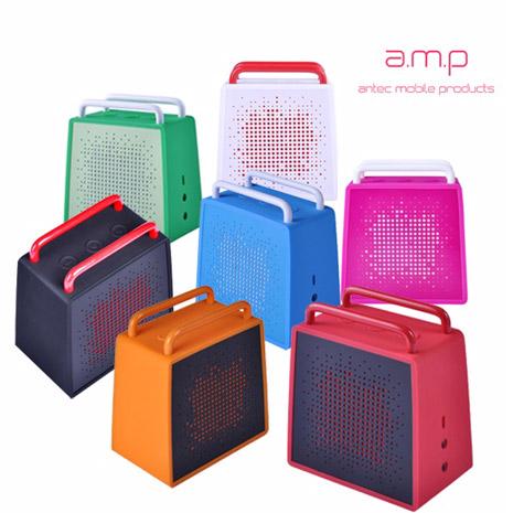 【出清活動】a.m.p SP Zero 防潑水無線藍牙行動喇叭(可通話)藍