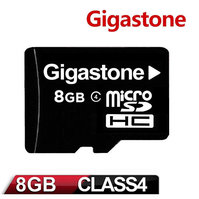 Gigastone 立達國際 8GB Micro SDHC Class4 高速記憶卡(附轉卡)-3C電腦週邊-myfone購物