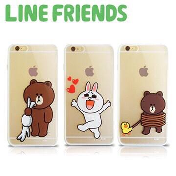 LINE FRIENDS iPhone 6 Plus透明硬式保護殼