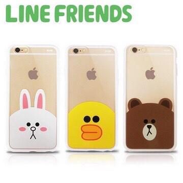 LINE FRIENDS iPhone 6經典款透明硬式保護殼