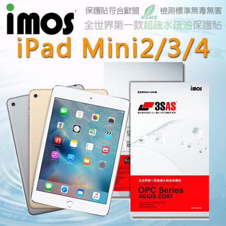 【Mypiece】imos 蘋果 Apple iPad Mini2 / Mini3 / Mini4 亮面膜 3SAS 螢幕保護貼Mini2