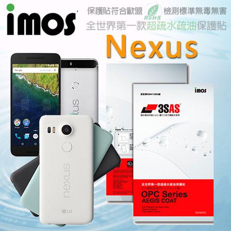 【Mypiece】imos Google Nexus 5X / 6P 亮面膜 3SAS 螢幕保護貼