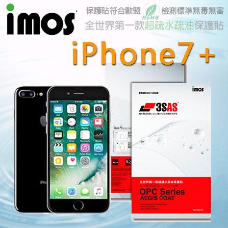 【Mypiece】imos 蘋果 Apple iPhone 7+ Plus 5.5吋 亮面膜 3SAS 螢幕保護貼