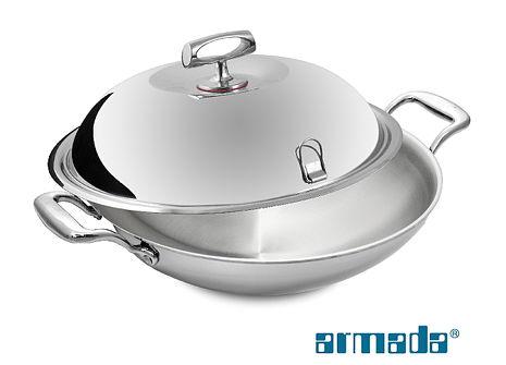 《armada》精英系列316不鏽鋼複合金炒鍋40CM