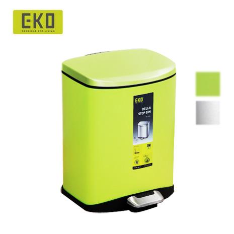 EKO迪萊靜音垃圾桶-6L(兩色可選)