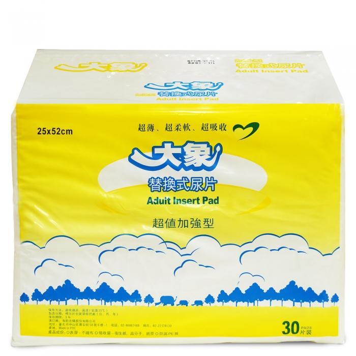 【大象】 平面替換式尿片(6包,共180片)