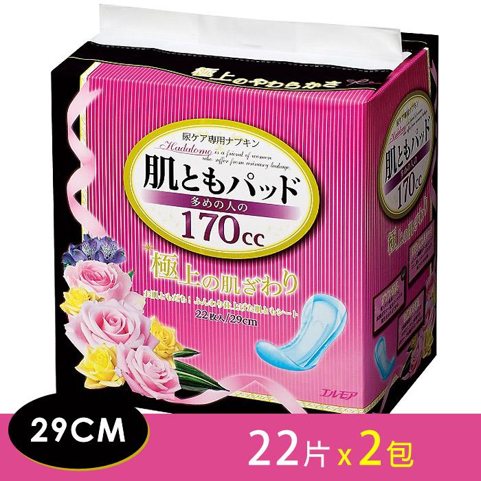 日本一番 婦女失禁護墊29cm 多量型(170cc)-22片/包x2包組