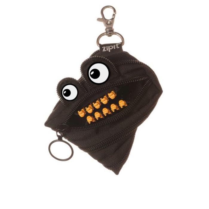 ZIPIT 怪獸拉鍊包鋼牙版(小)-酷酷黑